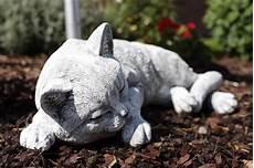 Deko Katze Garten - steinfigur katze schlafend gross frostfest garten deko