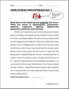 christmas theme upper elementary proofreading i abcteach com abcteach