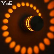 yooe sale indoor led wall l 3w sunflower wall sconce corridor modern aluminum colorful