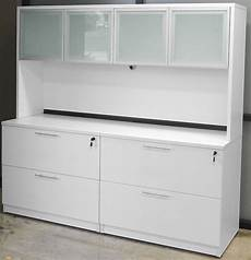 white credenza white curved l shaped glass top reception desk