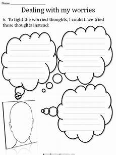 cbt children s emotion worksheet series 7 worksheets for dealing with anxiety