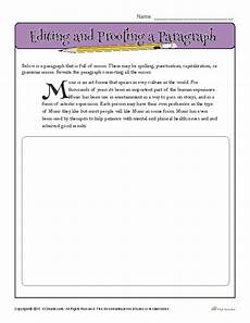 editing and proofing a paragraph proofing and editing worksheets