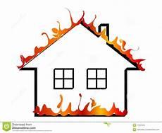 Malvorlage Brennendes Haus Brennendes Haus Vektor Abbildung Illustration Gefahr