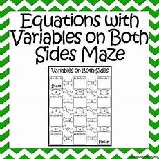 algebra worksheets variables on both sides 8615 2567 best 6th 8th grade images on class activities classroom activities and