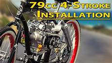 how to installation guide 79cc 4 stroke bicycle engine kit youtube