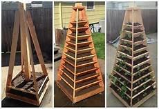 how to build a vertical garden pyramid tower