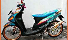 Modifikasi Motor Mio Standar by Modifikasi Mio Sporty Standar Warna Biru Gold