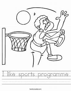 like sports worksheets 15833 i like sports programme worksheet twisty noodle
