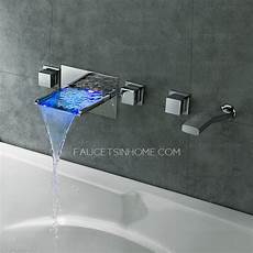 High End Waterfall Wall Mount Bathtub Faucet With Shower