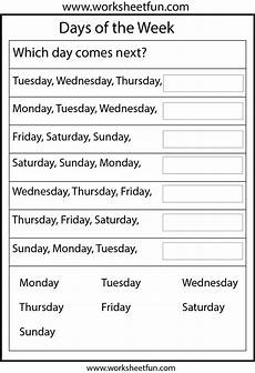 free worksheets days of the week 18254 days of the week printable worksheets worksheets homeschool and school