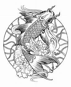 Malvorlagen Mandala Fische Mandala Fish Carp M Alas Coloring Pages