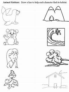 worksheets on animals for grade 3 13991 worksheet that connects animal with habitat kindergarten worksheets animal habitats habitats