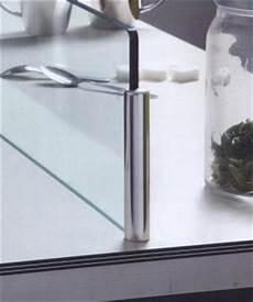 ecran anti projection cuisine kit de 2 supports ronds pour protection anti projection ilot