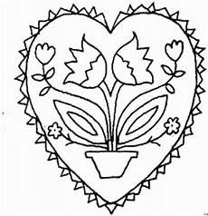 herz mit topfblume ausmalbild malvorlage gemischt