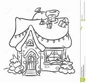 Christmas Snow House  Coloring Pages Grinch
