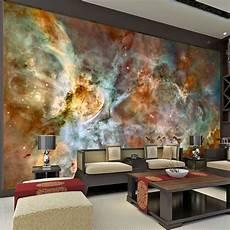 charming galaxy wallpaper nebula photo wallpaper 3d silk