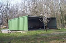 garage metal occasion abris m 233 talliques simple pente carport abris de pr 233 s