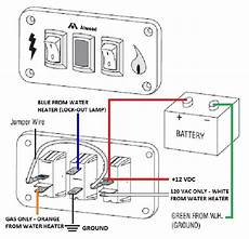 Atwood Water Heater Switch Wiring by Atwood Water Heater White Dual Switch Panel Kit 91230