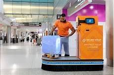 aeroport auto service baggage wrapping service offers travelers peace of mind