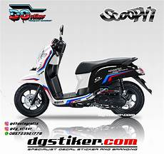 Scoopy Modif Stiker by Modifikasi Decal Sticker Scoopy Fi Putih Livery Bmw Safety