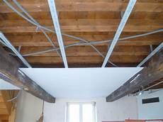 Isolation Plafond Suspendu Placo Maison Travaux