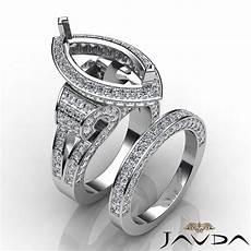diamond engagement ring marquise bridal sets 18k gold white halo setting 4ct ebay