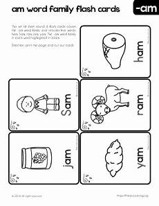 am word family flashcards short a sound primarylearning org