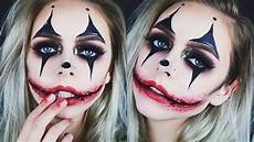 Horror Clown Schminken - creepy glamorous clown makeup