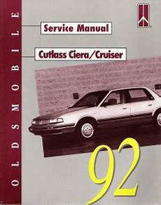 free car manuals to download 1992 oldsmobile custom cruiser electronic throttle control 1992 oldsmobile cutlass ciera and cruiser factory service manual