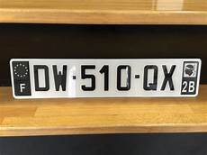 plaque immatriculation automobile garage si 232 ge auto