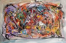 peinture abstraite contemporaine multicolore la fete de l