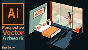 Drawing Perspective Vector Art In Adobe Illustrator  YouTube