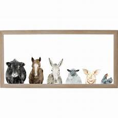 Animal Memo Board petal farm animals rustic brown frame magnetic memo