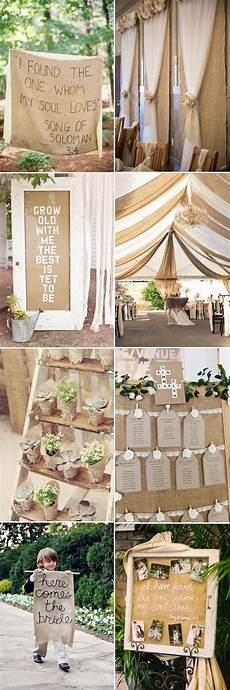 the most complete burlap rustic wedding ideas for your inspiration cheap wedding decorations
