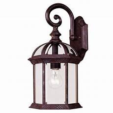 illumine 1 light wall lantern rustic bronze finish clear beveled glass cli sh202852876
