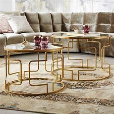 runde wohnzimmertische runde couchtische in gold mit eleganten verstrebungen