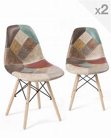 Nadir Lot De 2 Chaises Scandinaves Patchwork Dsw