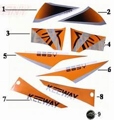 keeway easy 50 aufkleber orange ersatzteile