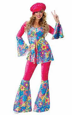 Flower Power Mode - flower power s costume 1970 s hippie fancy dress