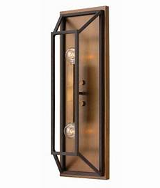 bronze with black box wall light