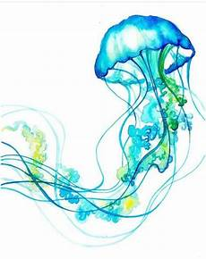 Aquarell Malvorlagen Jellyfish Vorlagen With Images Watercolor Jellyfish