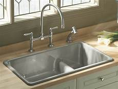 kohler k 6625 0 iron tones smart divide self rimming or undercounter kitchen sink white white