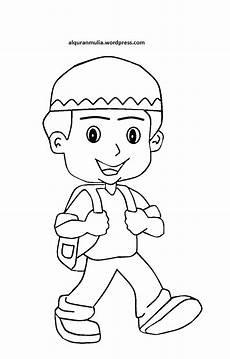 Mewarnai Gambar Kartun Anak Muslim 16 Alqur Anmulia