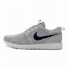 womens nike flyknit roshe run shoes grey navy price 79