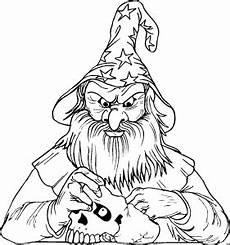 Zauberer Malvorlagen Tiere Zauberer Mit Schaedel Ausmalbild Malvorlage Phantasie
