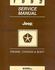 how to download repair manuals 1992 jeep comanche regenerative braking 1992 jeep repair shop manual set original comanche cherokee wrangler