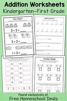k1 worksheets 19345 free addition worksheets k 1 instant free homeschool deals