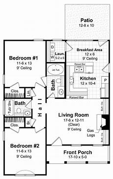 2br house plans small house 2br 2ba floor plans pinterest the