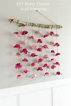 Home Decor Ideas Diy With Paper by Boho Flower Wall Hanging Made From Egg Cartons Diy
