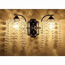 vintage crystal wall light fixture sconce chandelier wall ls ornate cast iron ebay